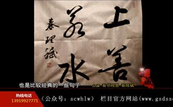 甘肃电视台《收藏》秦书理墨(上善若水)
