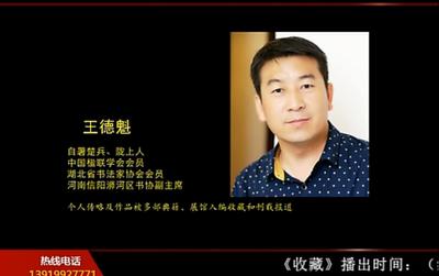 甘肃电视台《收藏》书法赏拍-王德魁